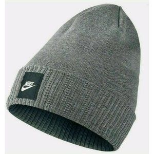 Nike Futura Knit Hat Beanie Carbon Wolf Grey Adult